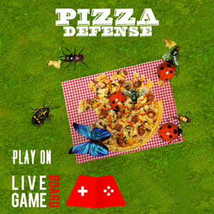 Pizza defence AR game