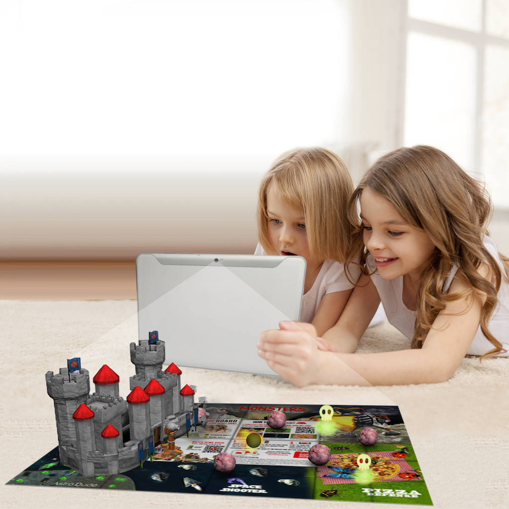 Live Game Board children playing fight of the castle game